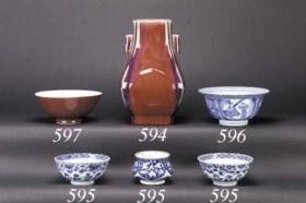 A flambe glazed hu vase  Guangxu