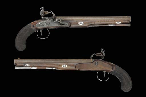 A Fine Pair Of 32-Bore Flintlo