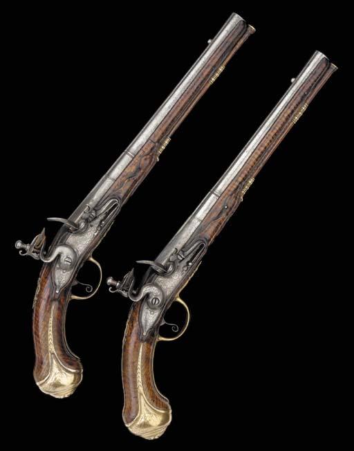 A Pair Of 22-Bore Flintlock Ho