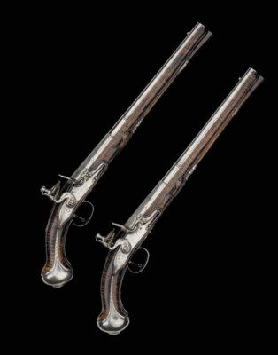 A Fine Pair Of 18-Bore Flintlo