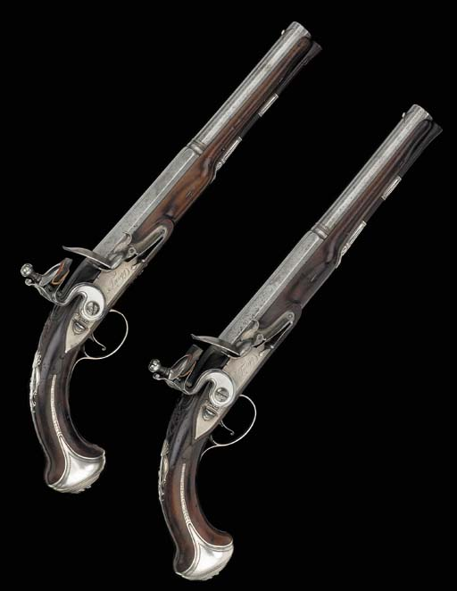 A Fine Pair Of 18-Bore Silver-
