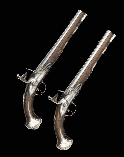 A Fine Pair Of 18-Bore Silver-
