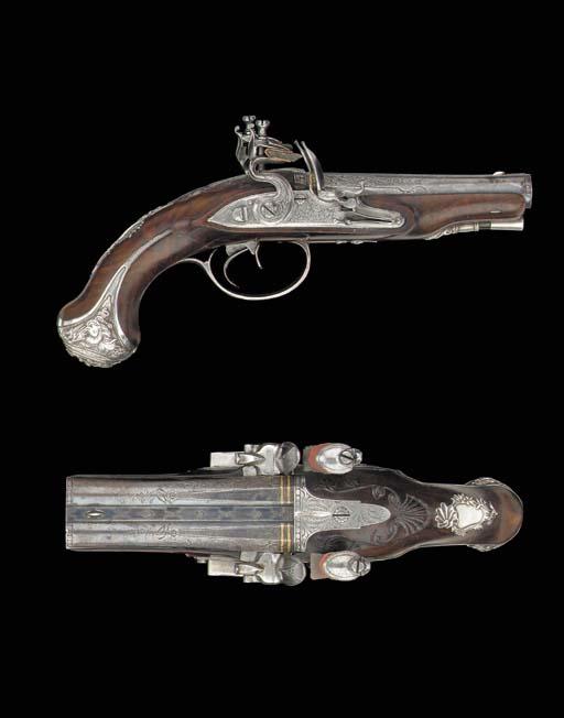 A Fine Pair Of 32-Bore Silver-