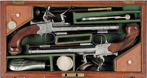 A Fine Cased Pair Of 22-Bore F