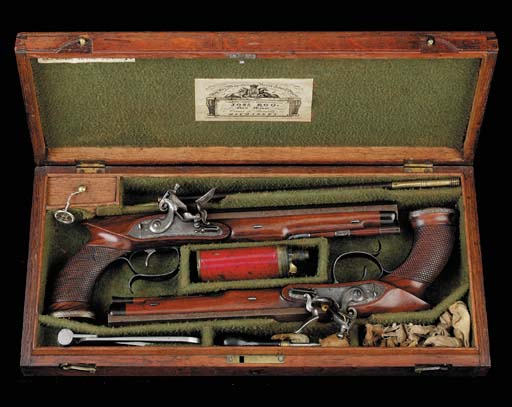 A Fine Cased Pair Of 24-Bore S