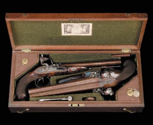 A Very Fine Cased Pair Of 18-B