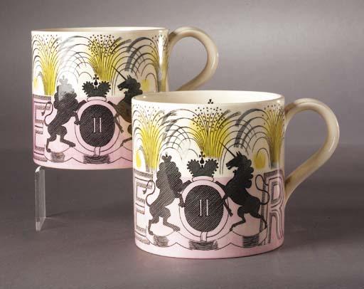 A Wedgwood commemorative Coronation mug