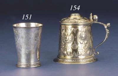 A 17TH CENTURY GERMAN BEAKER