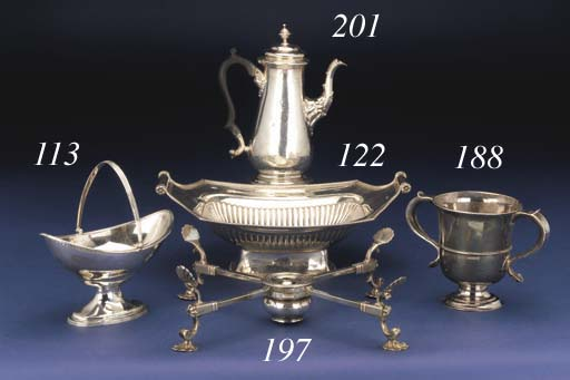 A GEORGE II PROVINCIAL TWO-HANDLED CUP