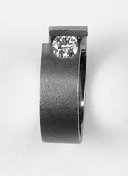 A diamond single stone abstrac