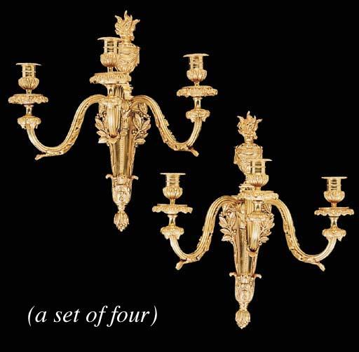 A set of four Louis XVI style