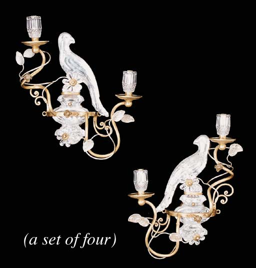 A set of four gilt metal and g