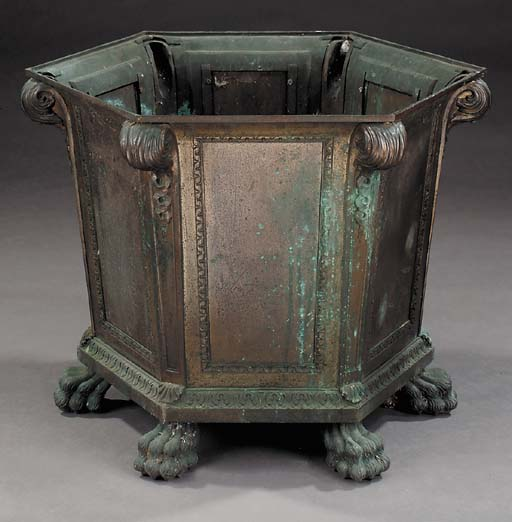 A bronze jardiniere, late 19th