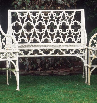 A French cast iron seat, circa