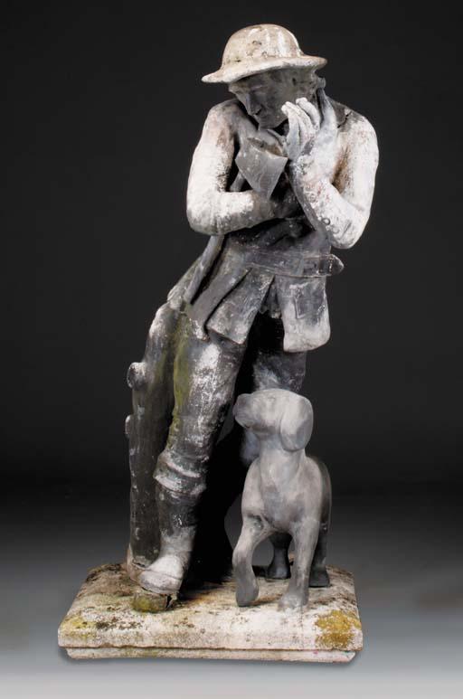 A lead figure of a labourer, p
