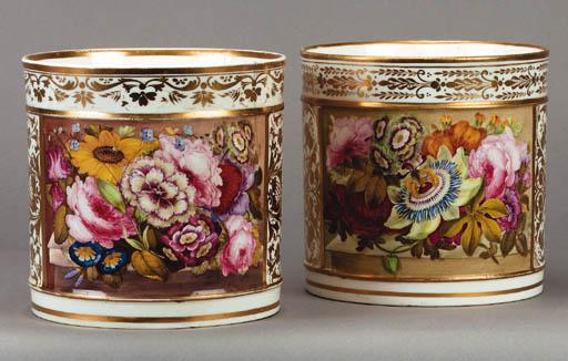 Two Derby porter mugs