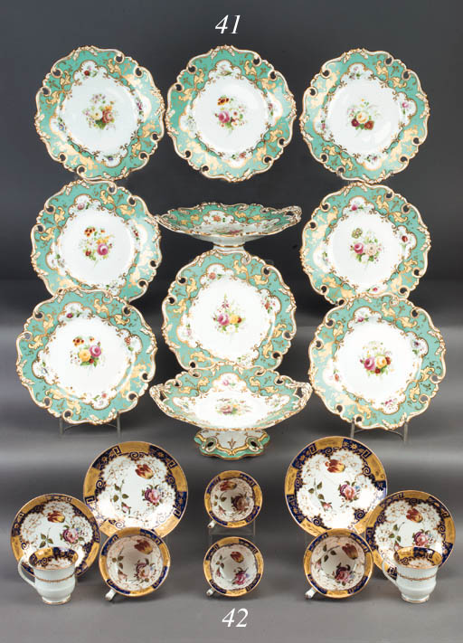 An English porcelain part tea