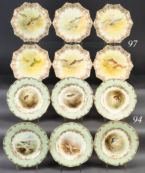 Six Royal Doulton plates
