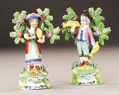 Two Ralph Salt figures of Show