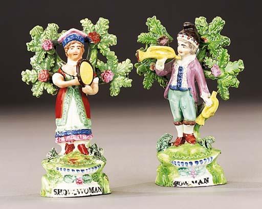 Two Ralph Salt figures of Showman and Showwoman