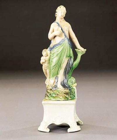 A pearlware group of Venus and