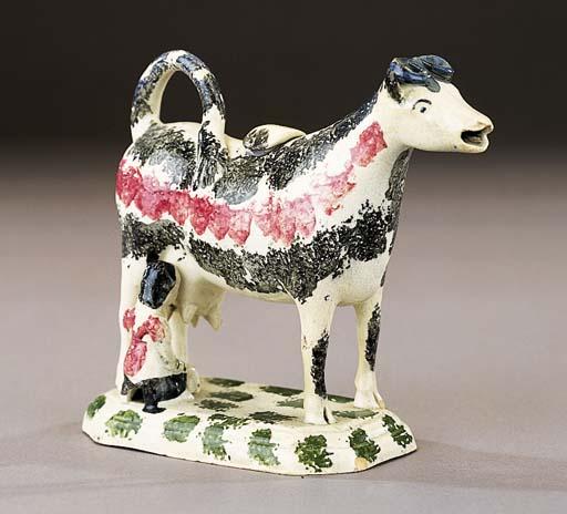 A pearlware cow creamer