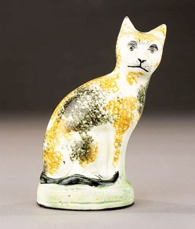A pearlware model of a cat