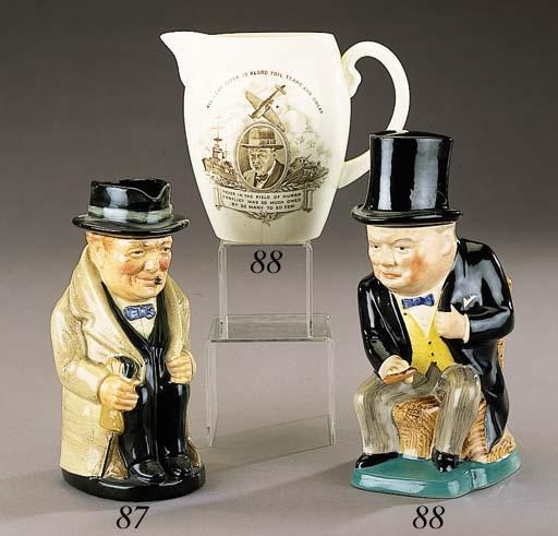 A Royal Doulton character jug of Churchill