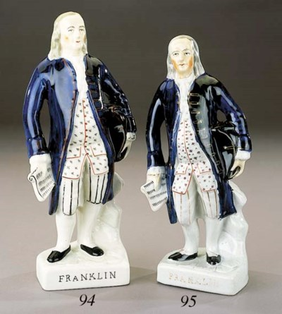 A figure of Benjamin Franklin