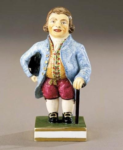 A Derby figure of a Warden