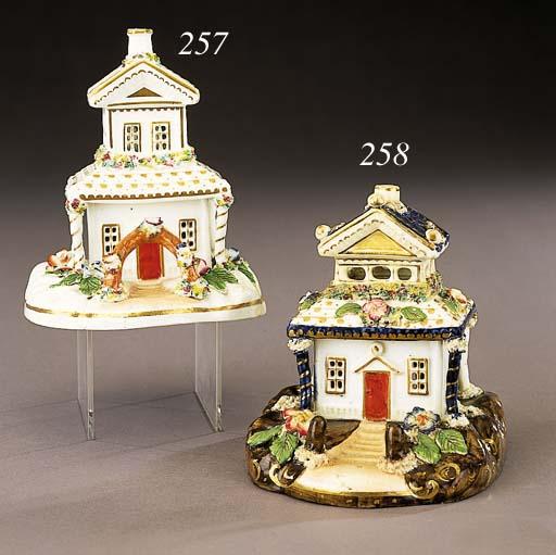 A porcelain cottage pastille-burner