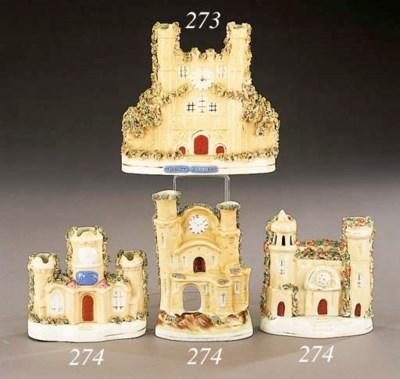 A porcelain model of a buildin