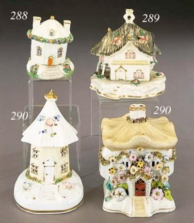 A porcelain model of a cottage