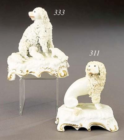A porcelain model of a poodle