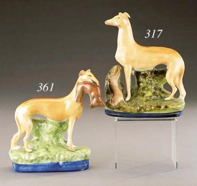 A model of a greyhound