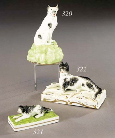 A porcelain model of a wolf do