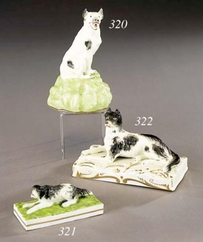 A porcelain model of a recumbe