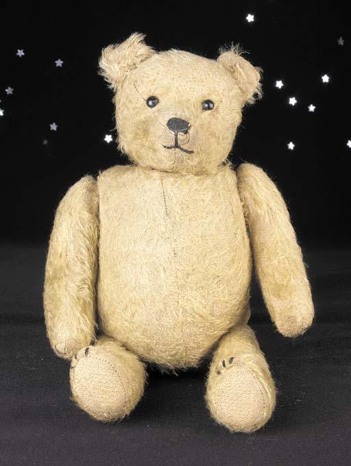 An unusual rattle teddy bear