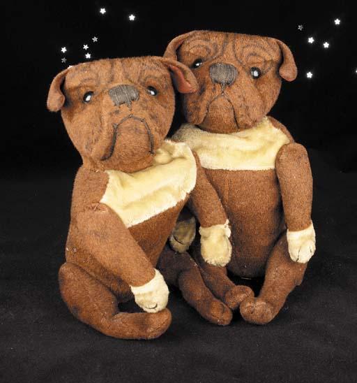 A pair of Steiff Boston Bull-t