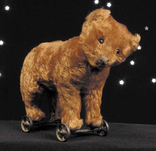 A rare Steiff bear on wheels