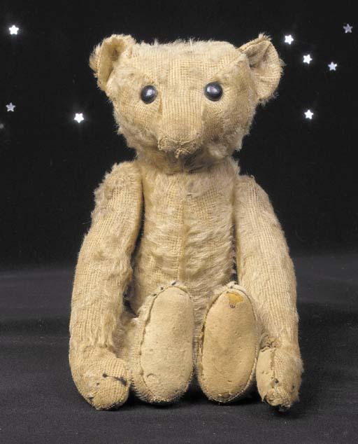 A rare Steiff 'rod' teddy bear