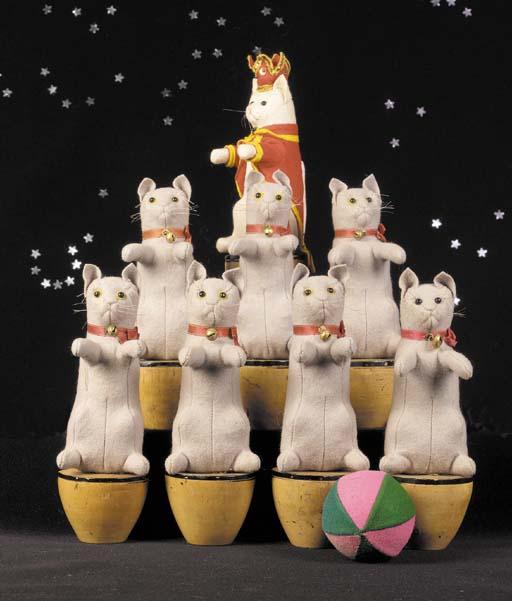 Rare Steiff cat skittles