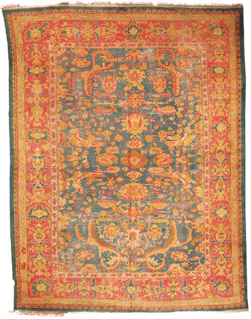 An antique Borlou carpet