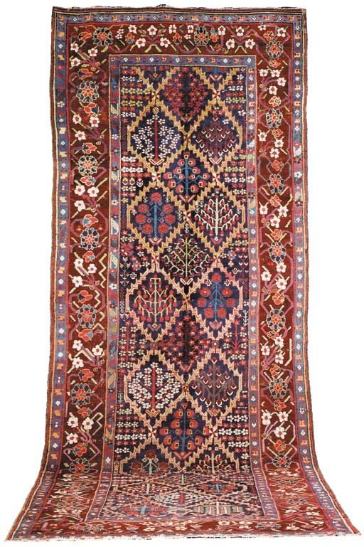 An antique Bijar long kelleh