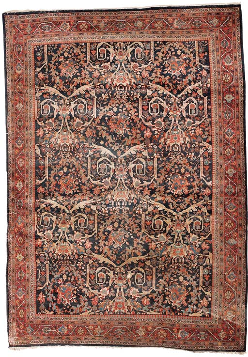 An antique Mahal carpet of  Mu