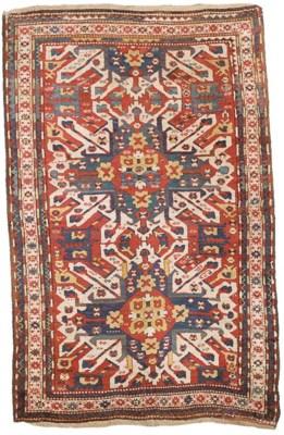 An antique Chelaberd Kazak rug