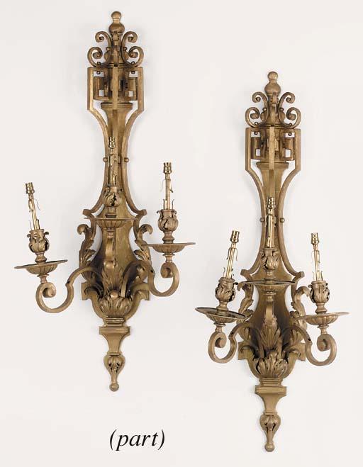A set of six Continental gold