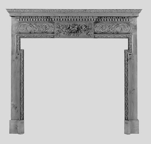 A George III style carved pine