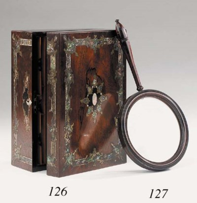 A VICTORIAN ROSEWOOD AND BRASS