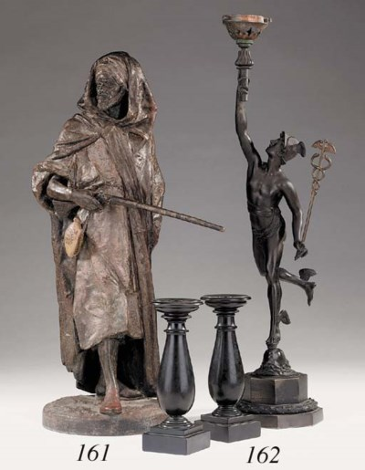 A French spelter figure of an